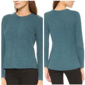 Madewell Hexcomb Teal Sweater Size Medium